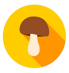 mushroom circle icon vector image vector image