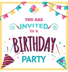 Party Invitation vector image vector image
