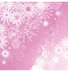pink snowflake background vector image
