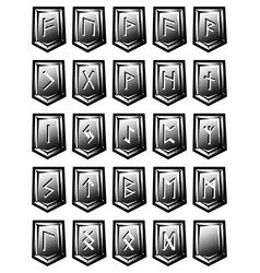 set of character from runic alphabet on vector image vector image