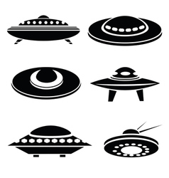 silhouettes of spaceships vector image vector image