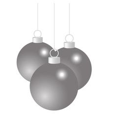 Silver Christmas balls vector image