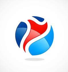 sport man abstract color logo vector image