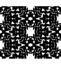 Black Floral Brush Strokes Pattern vector image vector image
