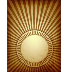 Brown grunge light rays background vector