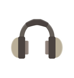 headphones flat icon isolated music design vector image vector image