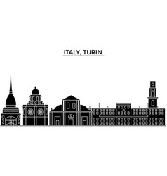 italy turin architecture city skyline vector image vector image