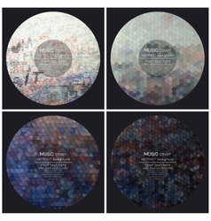 Set of 4 music album cover templates Graffiti vector image