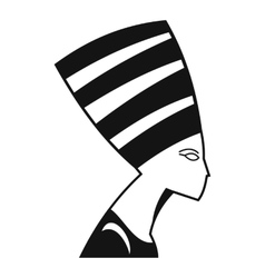 The head of the Egyptian queen icon simple style vector image vector image