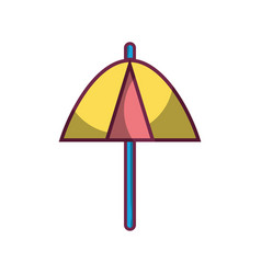 umbrella protection of the change weather vector image