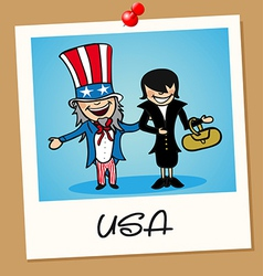 USA travel polaroid people vector image vector image