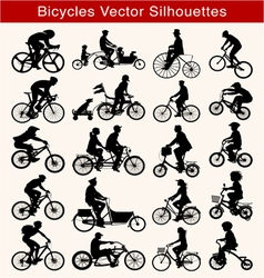 Cycling Silhouettes vector image