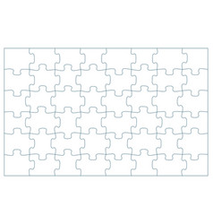 48 puzzle pieces 6 x 8 jigsaw vector image