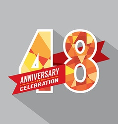 48th years anniversary celebration design vector