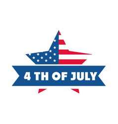 4th july independence day american flag star vector image
