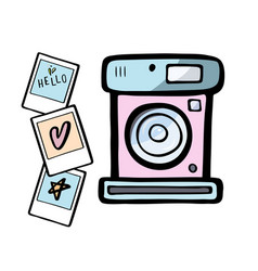 a retro photo camera vector image