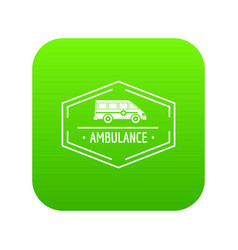 ambulance newborn icon green vector image