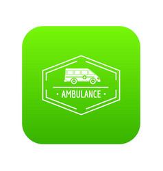 ambulance newborn icon green vector image