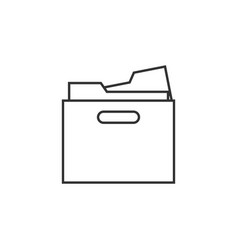 archive box line icon simple modern flat for vector image