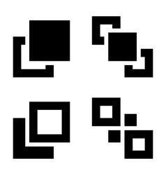 Arrange set vector image