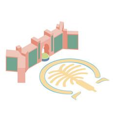 Atlantis hotel icon isometric style vector