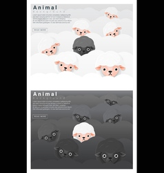 Black and white sheep background vector image