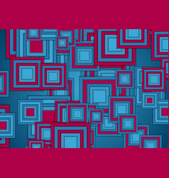 blue and purple squares abstract tech geometry vector image