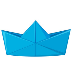 Blue paper folded in hat shape vector