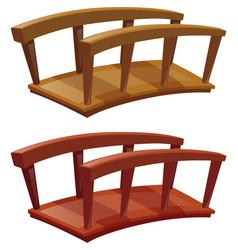 Bridges made of wood vector