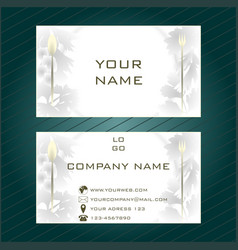 business card in light gray tones vector image
