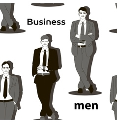 Business men set pattern vector
