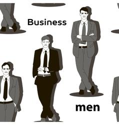 Business men set pattern vector image