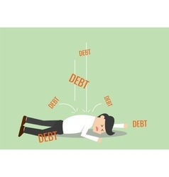 Businessman debt vector image