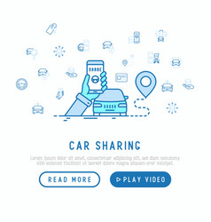 Car sharing concept searching a car vector