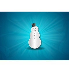 christmas background shine blue snowman vector image