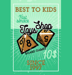 color vintage toys shop banner vector image
