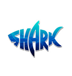 Colorful shark logo design vector