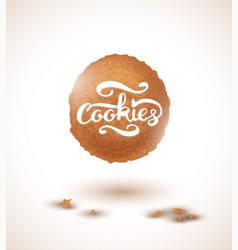 cookie and cookies lettering vector image