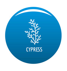 cypress leaf icon blue vector image