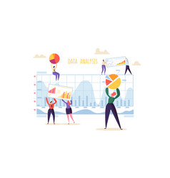 Data analysis strategy concept people characters vector