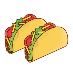 delicious mexican food tacos vector image vector image