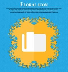 Document folder Floral flat design on a blue vector