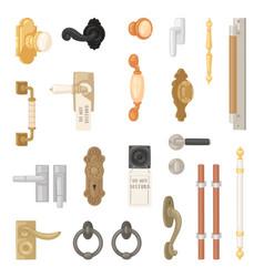 Door handle vintage doorknob to lock doors vector