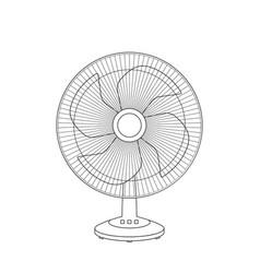 fan sketch vector image