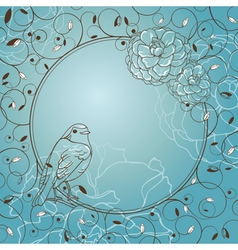 frame with bird vector image