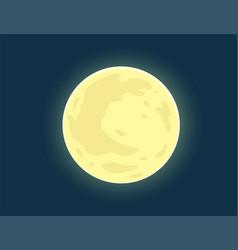 Full moon bright vector