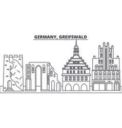 Germany greifswald line skyline vector