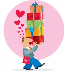 gift box and love vector image