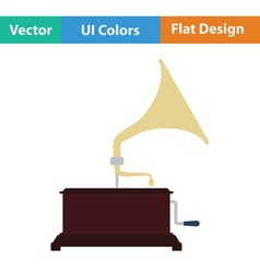 Gramophone icon vector