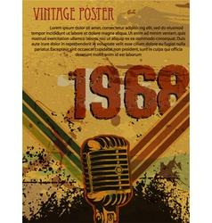 Grunge retro concert poster vector